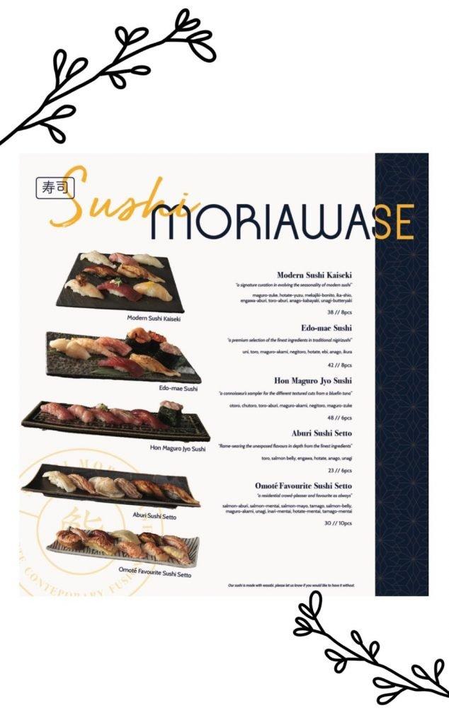 omote menu sushi