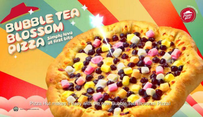 pizza hut bubble tea blossom pizza