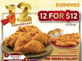 popeyes promotoin 12 for 12