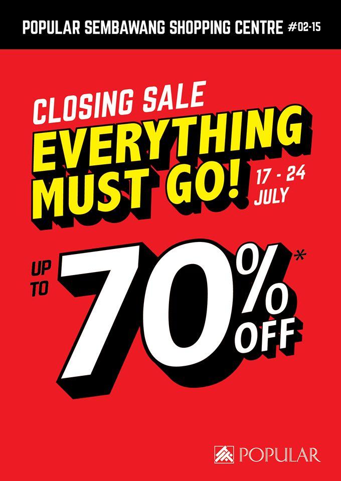 popular bookstore closing down sales