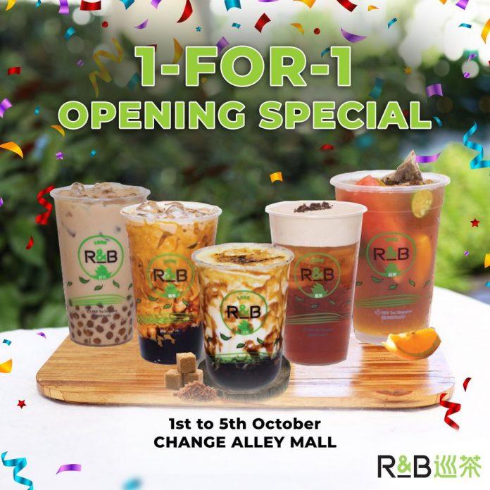 rB tea 1 for 1 at Change Alley