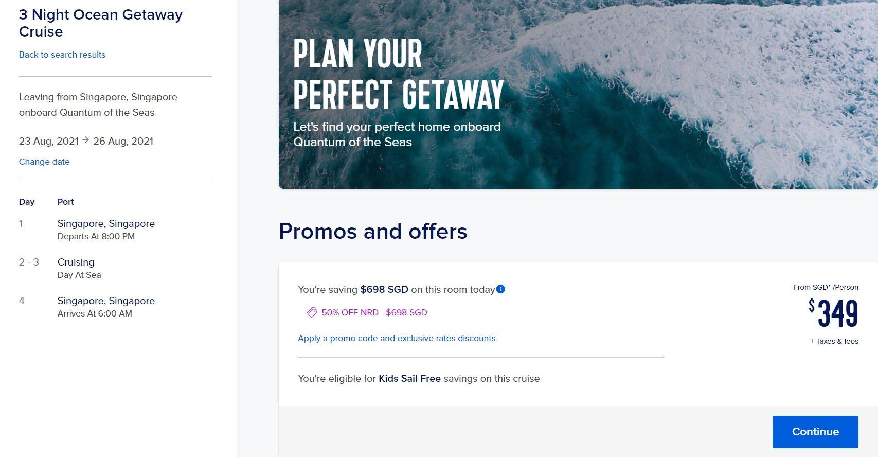 royal carribean cruise promotion