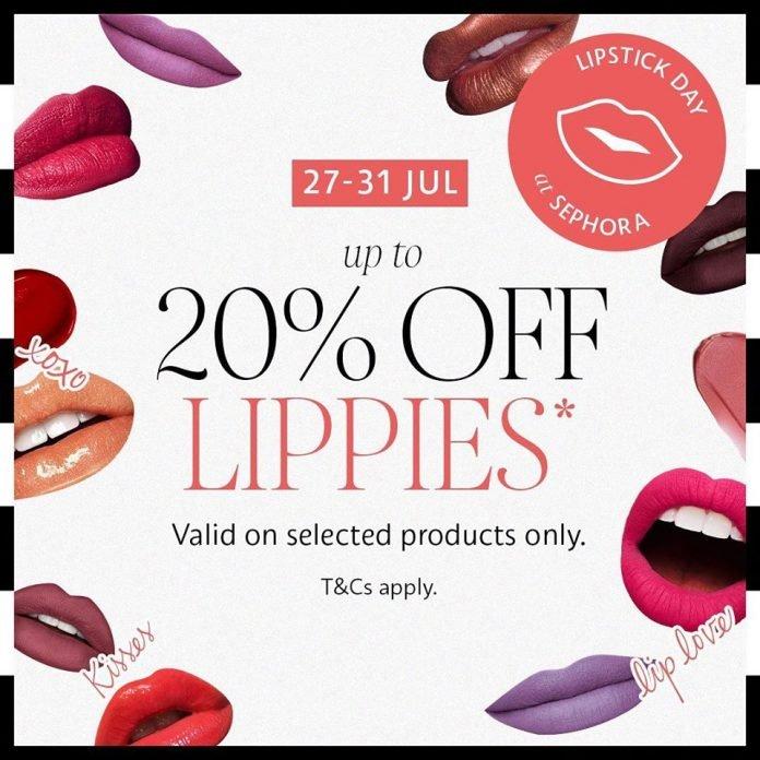 sephora promotion 20 off lipsticks