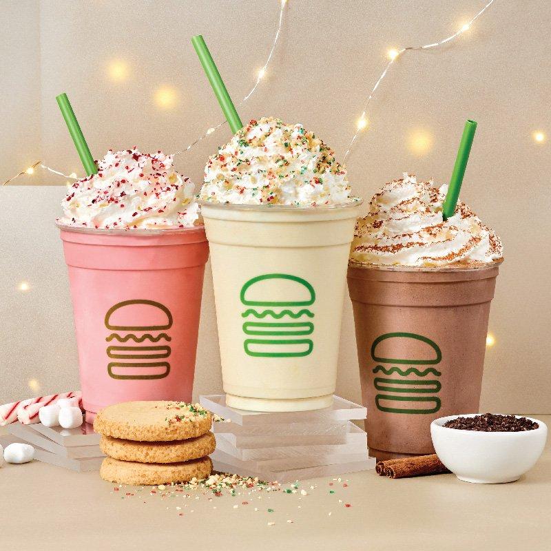 shake shack christmas cookie shake