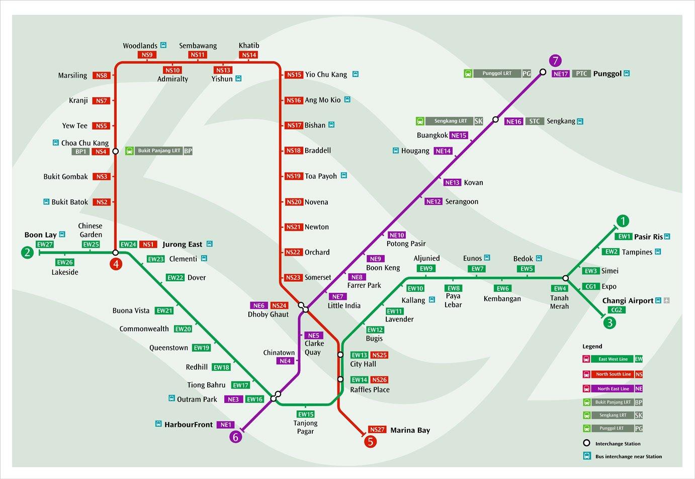 singapore mrt map 2003