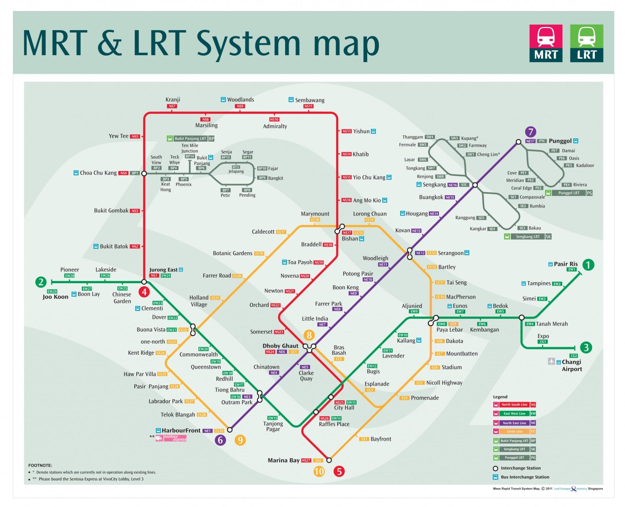 singapore mrt map 2009