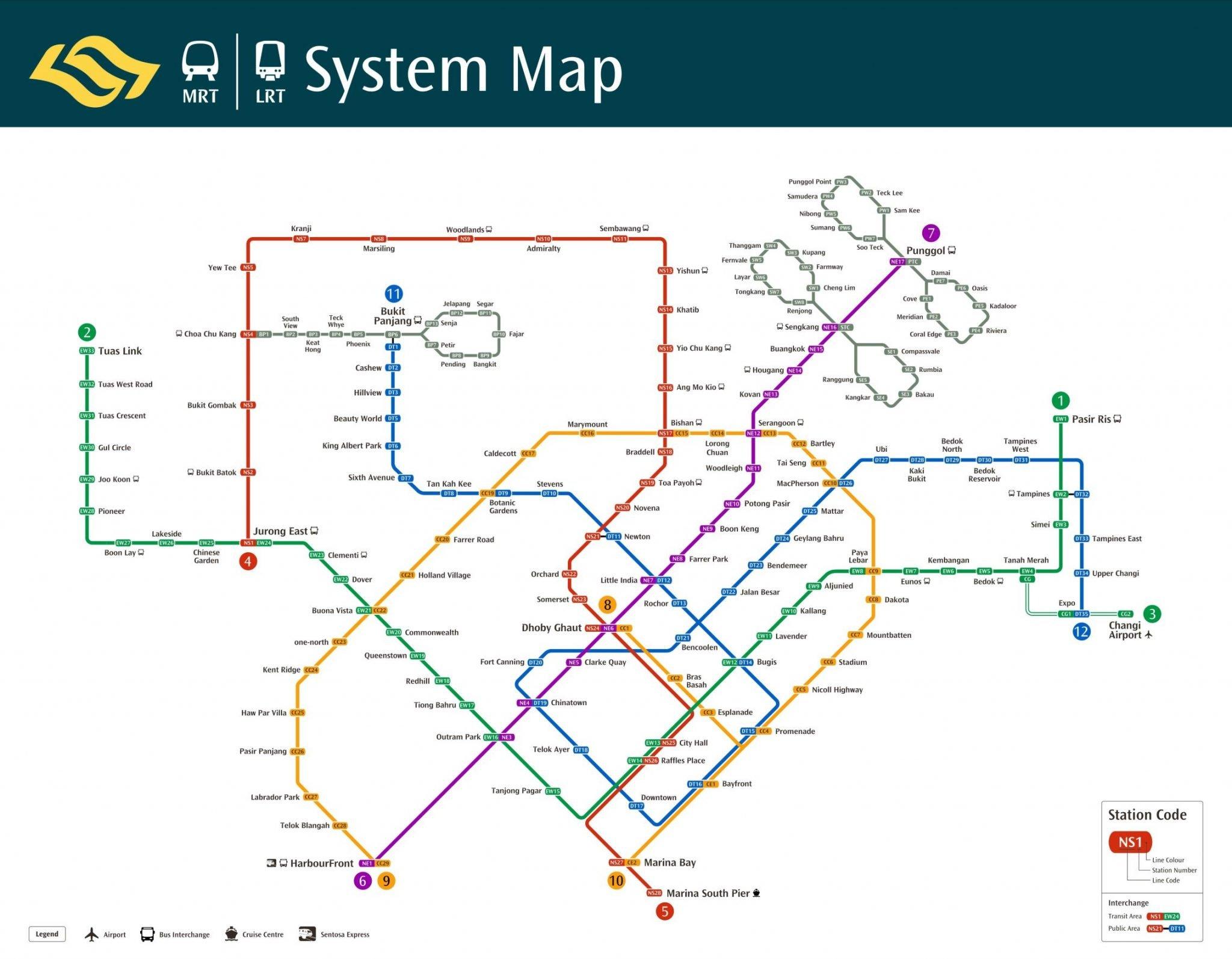 singapore mrt map 2013