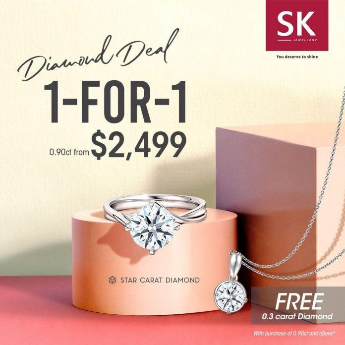 sk jewellery 1 for 1 promotion carat diamond