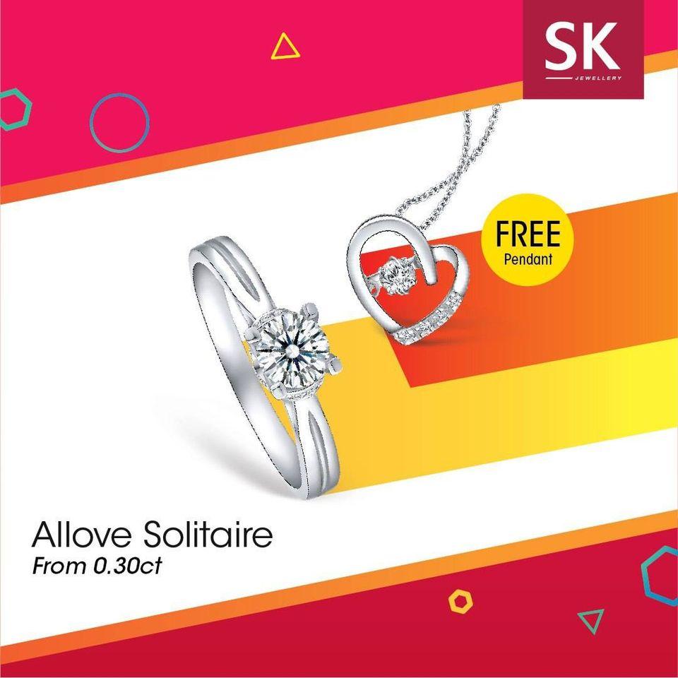 sk jewellery allove solitare