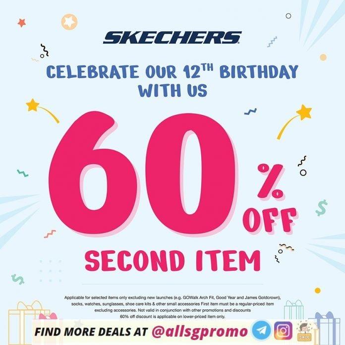 skechers promotion 60 off 2nd item