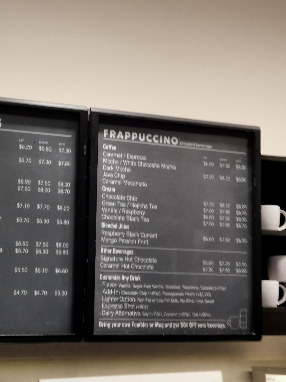 starbucks menu changi city point menu 2020
