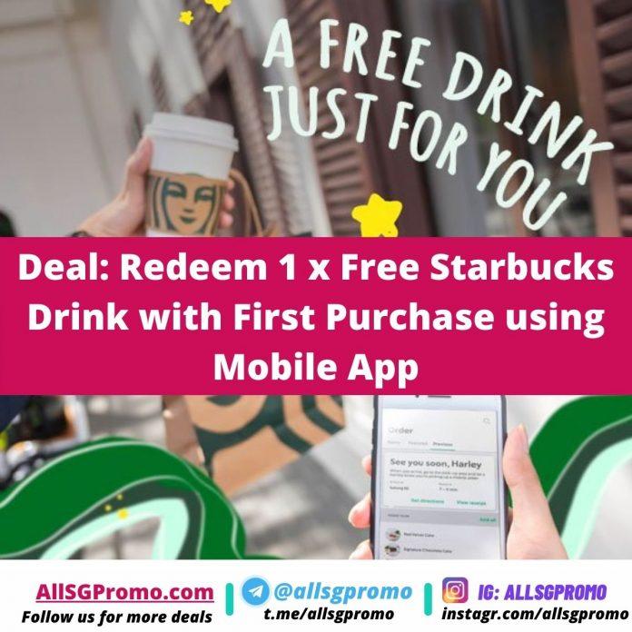 starbucks promotion free starbucks drink mobile app