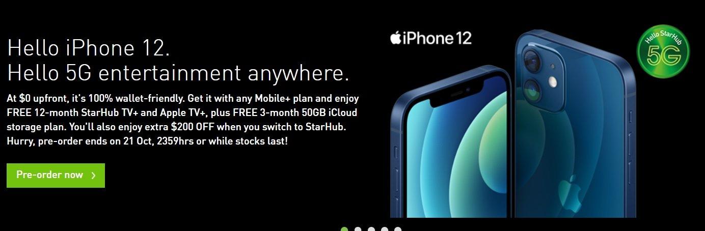 starhub iphone 12 pre order
