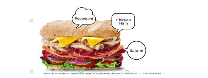 subway meat sub singapore