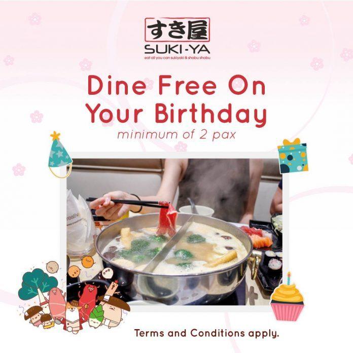 suki ya birthday promotion