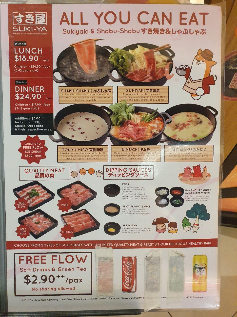 suki ya hotpot menu 2