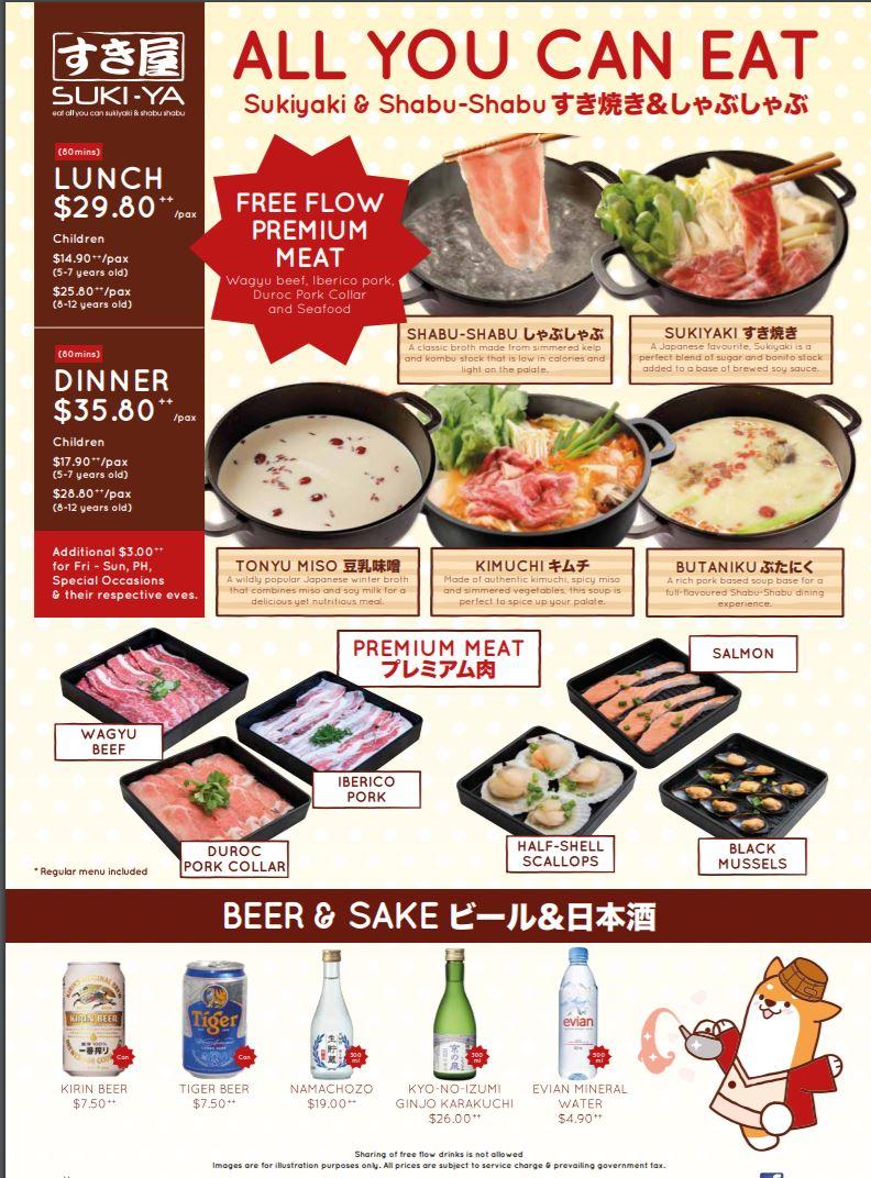 suki ya menu premium