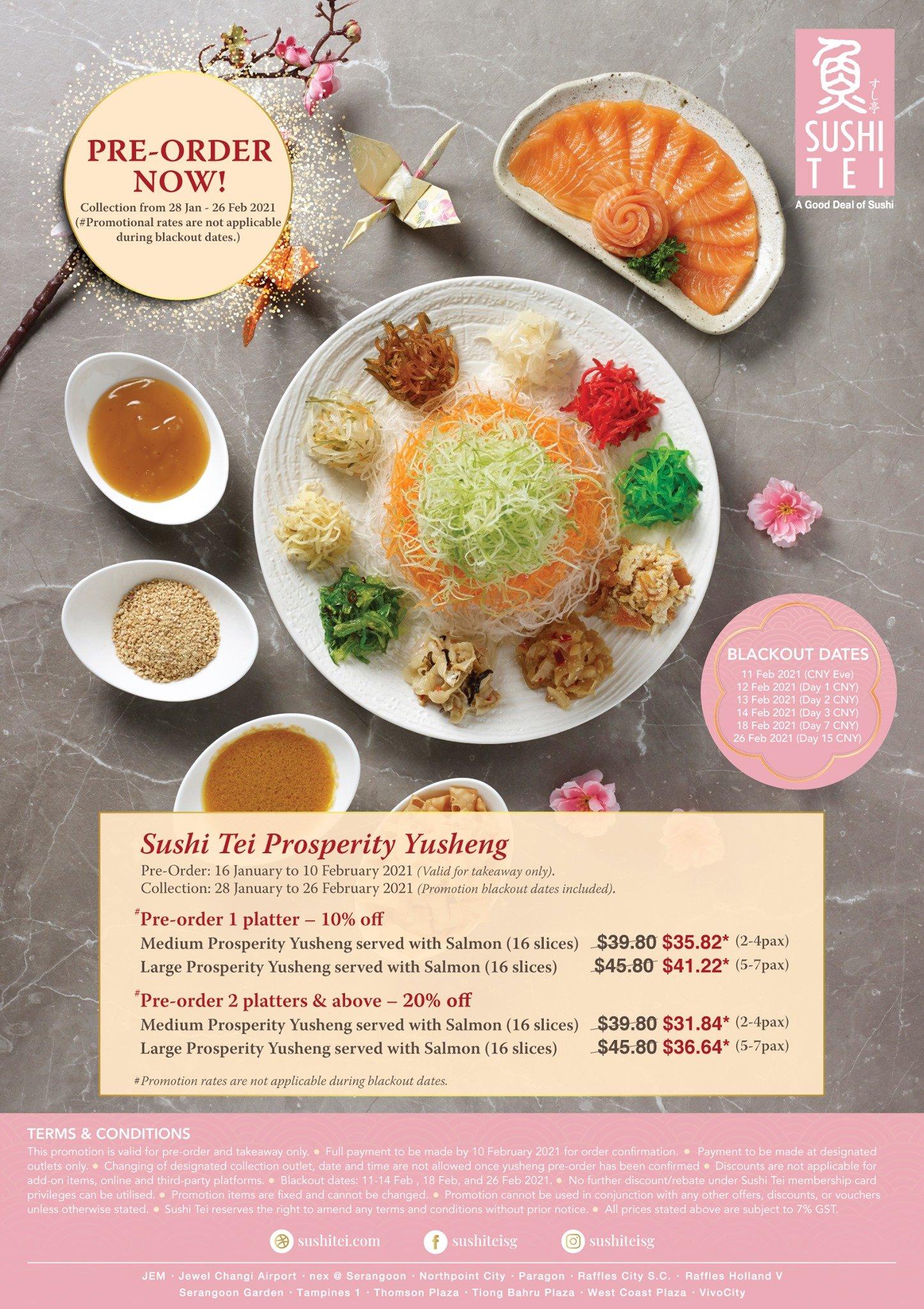 sushi tei yusheng menu