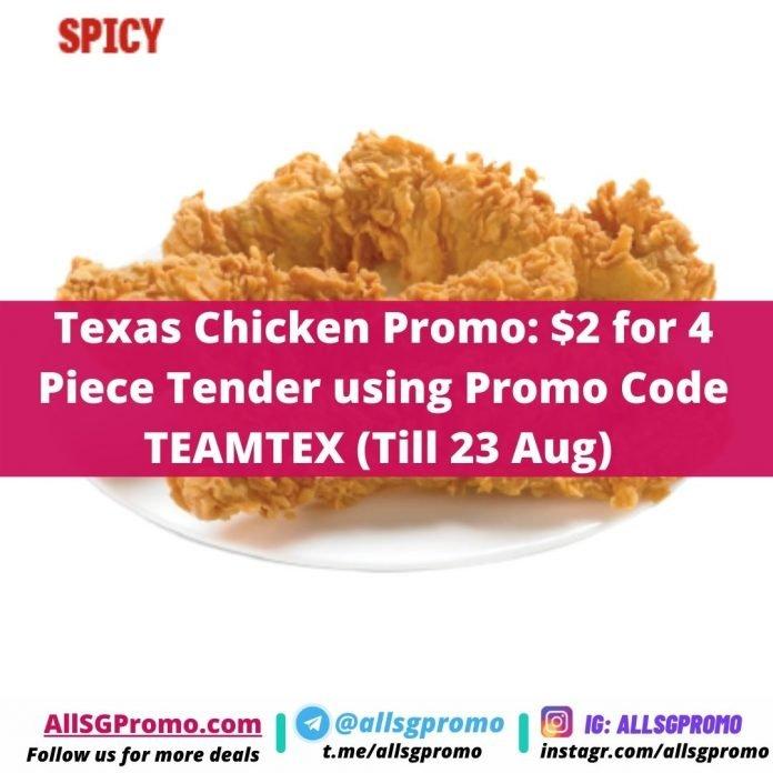 texas chicken promo