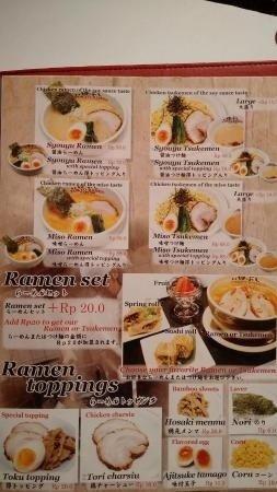 tokyo shokudo menu jakarta
