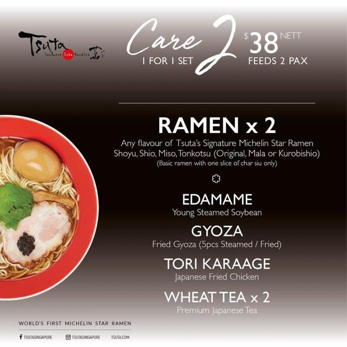 tsuta ramen 1 for 1 promotion