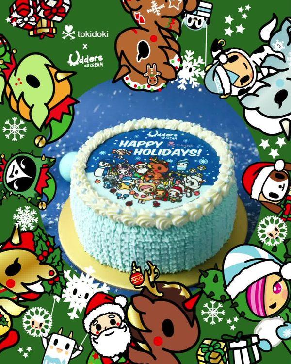 udders ice cream christmas promotion cake
