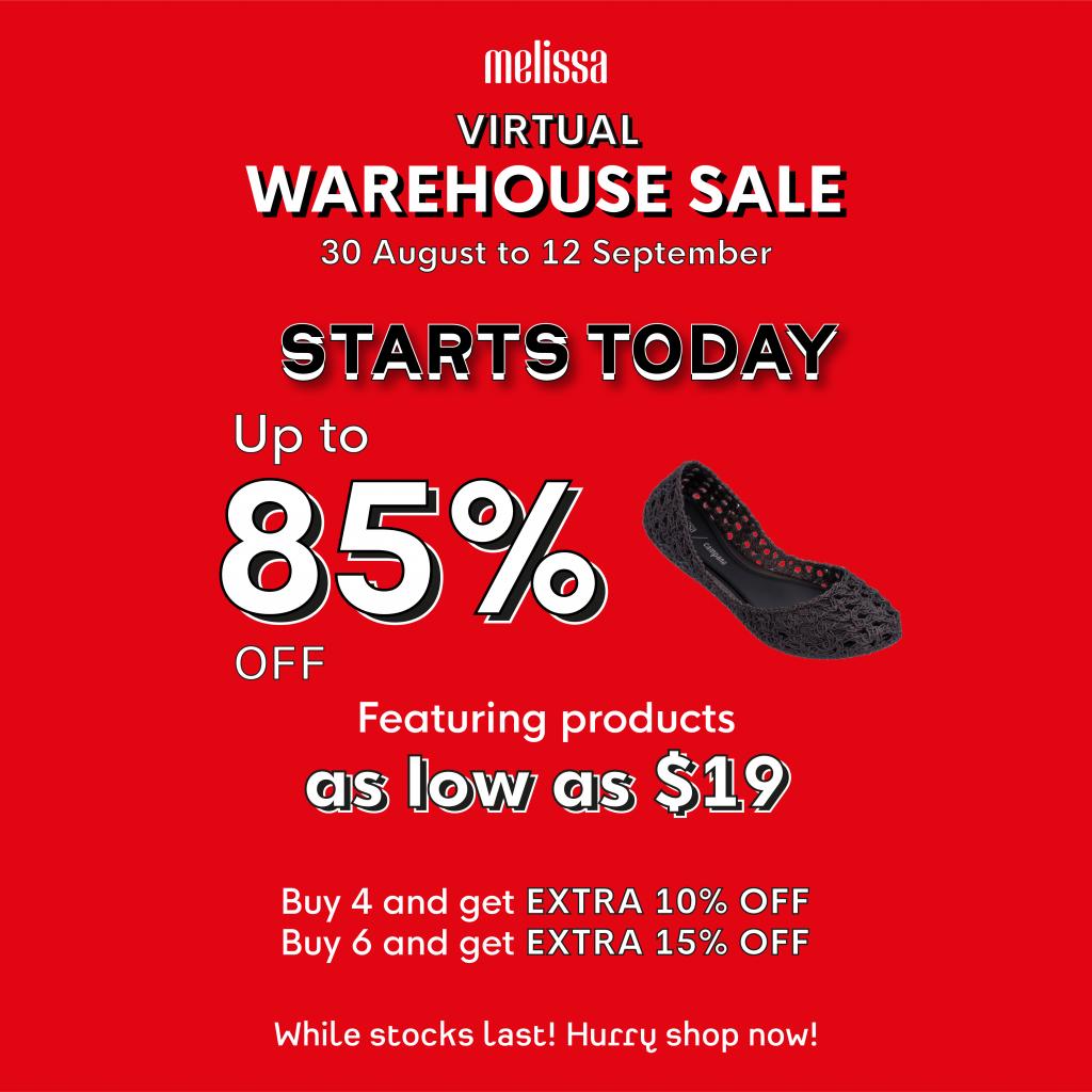 warehouse sale melissa